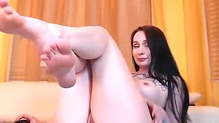 AA is embarrassed to show her feet so gets even more sexy!