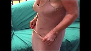 Turgid nipples granny show her big clit