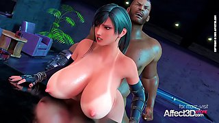Affect3D Big tits bartender blacked in a 3d animation