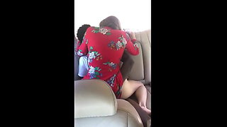 Hubby films mature white mother fucking raw bbc in car