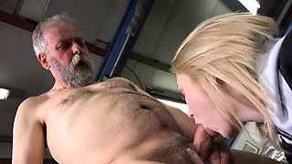 Engaging russian blonde nymph getting fucked