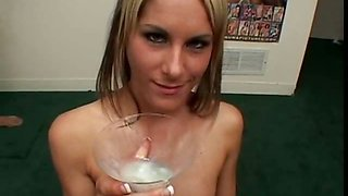Sperm loving blondie