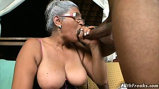 Grey haired old lady loves big dicks!