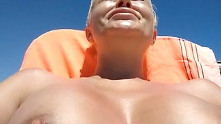 Wife gets naked on the beach
