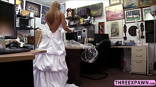 Horny Bride wants to fuck in the office