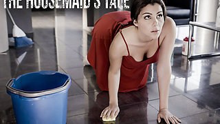 Housemaid Valentina Nappi cleans the floors and a cock!