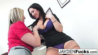 Jayden Jaymes Has To Please Her Very Busty Boss