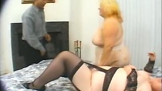 Two enormous sisters fucked by their dad and brother