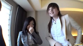 Japanese office ladies have sex at work