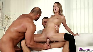Kate Rose rides monster cock in bisexual threesome