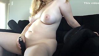 Amateur Blonde Toys Herself While Home Alone