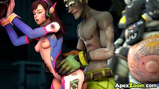 Overwatch Dva and Mercy sex acts