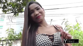 Beautiful filipina young girl&#39s pussy stretched doggystyle by monstercock