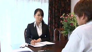 Fabulous Japanese slut Miki Sato in Hottest Secretary, Big Tits JAV clip