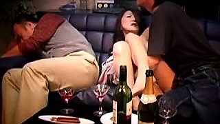 Hot Asian wife fucks a young cock while her husband sleeps