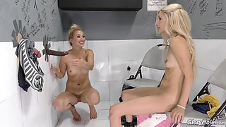 Piper Perri anre Sierra Nicole are excited about a BBC from a hole