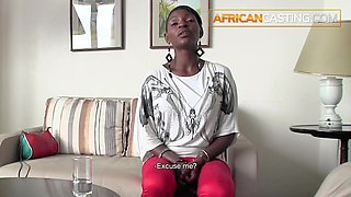 Huge Natural Ebony Boobs Fucked On Casting Couch