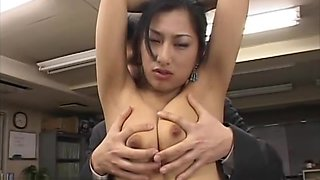 Japanese busty secretary best titty play