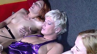 The girls take the action to a more private area where they