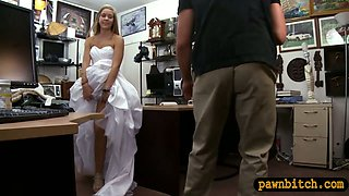 Babe sells her wedding dress and pounded by pawn keeper