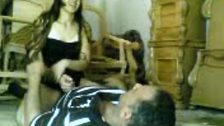 Arab amateur brunette lady rides dick and got fucked from behind