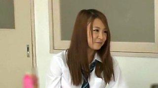 Crazy Japanese model Hibiki Otsuki, Aika Hoshino, Rin Suzuki in Horny Blowjob, Masturbation JAV movie