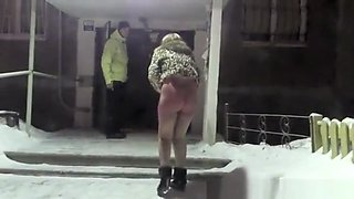 Totally drunk Russia girl
