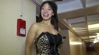 French milf asian fucked in gangbang