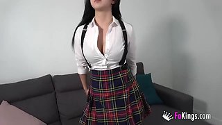 Convincing An Innocent Teen Babe To Do Her First Porno