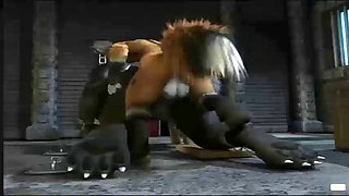 3d animation sex a fox and a wolf fucks
