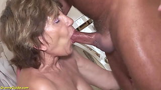 79 years old mom anal with stepson