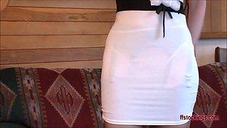 FFstockings - Mature lady's upskirt sheer panty show