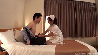 Japanese nurse Akane Aoi rides a dick like there is no tomorrow