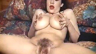 Vintage British big tits striptease hairy beauty