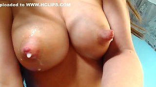 A lot of milk from tits on my face :)