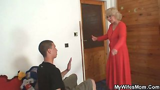 Sexy granny gets laid by son in law