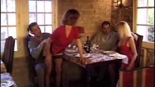 French swinger babes boned in the butt