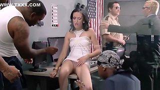 Drunk slut banged by black prisoners