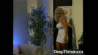 Dark haired sexy chick in night dress pleases kinky cripple with BJ