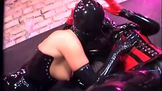 Kinky latex fetish ladies finger and pleasure each other
