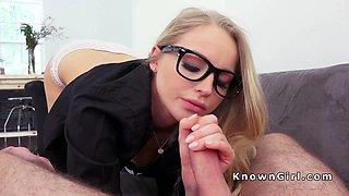 Natural busty blonde girlfriend banged pov homemade