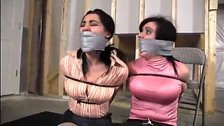 gigi and sahrye ziptied and tapegagged!