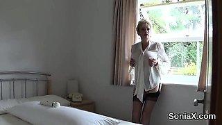 Unfaithful british mature gill ellis exposes her monster boo