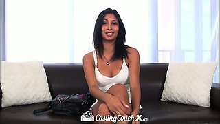 Casting Couch-X Texas teen eaten out on cam audition