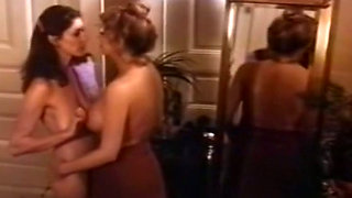 Busty classic milf lady is a delicious treat for blonde babe