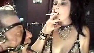 Horny amateur Smoking, BDSM sex scene