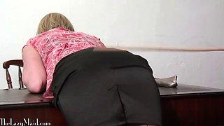 Lazy maid thrashed