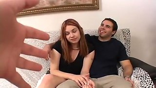 Sexy Redhead Cheats On Her Man For Money