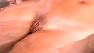 Soapy French Blonde Shows Big Tits And Curvy Ass In Bath