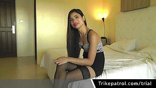 Pretty Asian Girl Sucks Cock